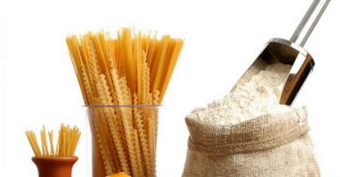 Таблицы калорийности муки и макарон
