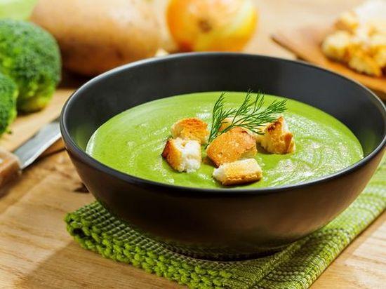 Суп пюре из брокколи и цветной капусты