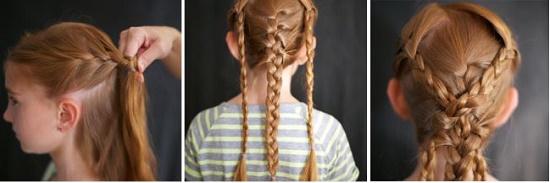 Как заплести ребенку красивую косу на средние волосы?