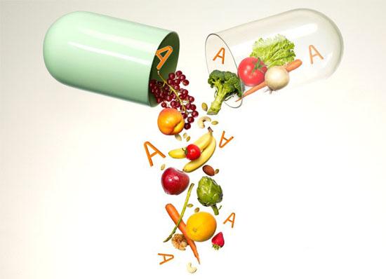 В рацион человека входит немало овощей и фруктов, где содержится витамин а