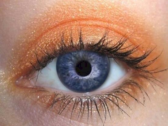 Оранжевые оттенки теней