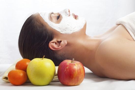 Ароматическая маска для лица с яблоком