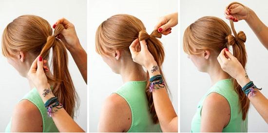 Как из волос сделать бант на хвосте: пошаговый мастер-класс