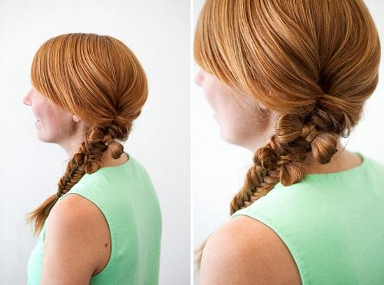 Как сделать бант в косе из волос?