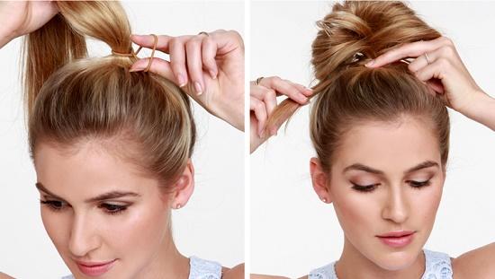 Как сделать красивый бантик из волос?