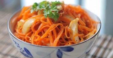 Сколько калорий в моркови по корейски?