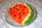 салат «Арбузная долька» с корейской морковью