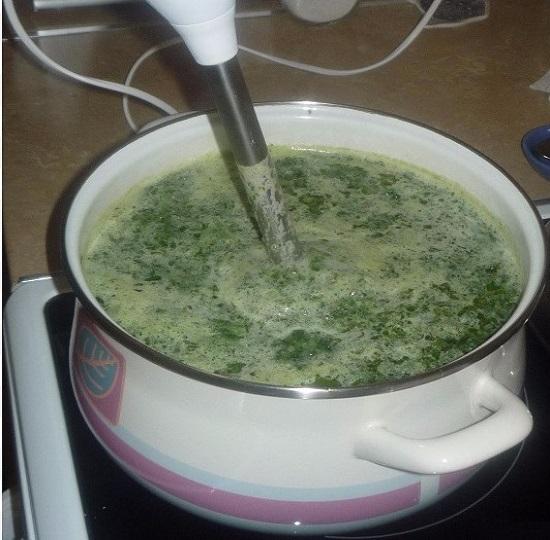 взобьем суп до консистенции пюре