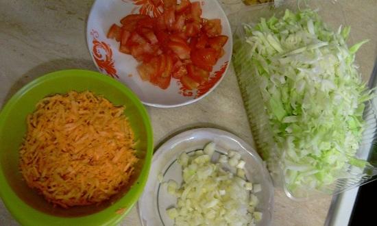 ингредиент лучше выкладывать в отдельную тарелку