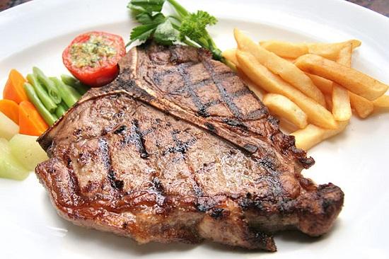 запеченный антрекот из говядины
