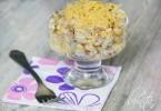 Салат с яичными блинчиками: рецепты приготовления с пошаговыми фото