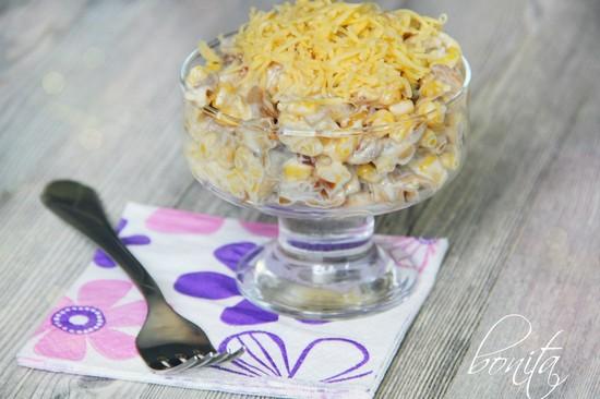 Салаты с кукурузой на день рождения простые и вкусные рецепты