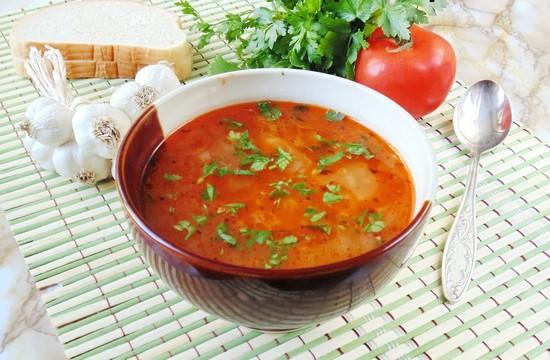 суп-харчо из курицы с рисом