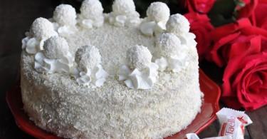 торт «Рафаэлло» с творожным кремом