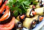 Закуска «Тещин язык» из баклажанов