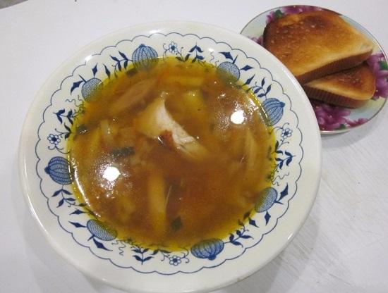 суп из кролика в мультиварке