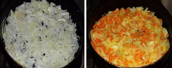 Пассеруем овощи до полной готовности