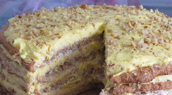 «Египетский» торт: рецепт с фото пошагово
