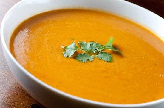 тыквенный вегетарианский суп-пюре