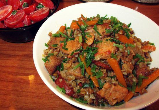 Классический рецепт гречки с мясом
