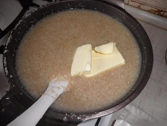 сливочное масло в каше