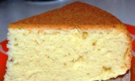 Классический бисквит со сметаной