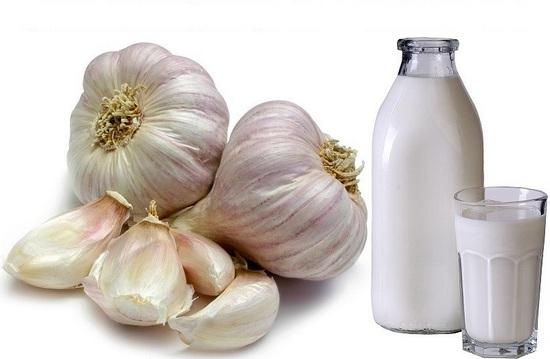 молоко с чесноком от паразитов на ночь