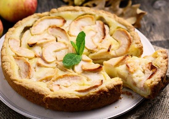 Цветаевский яблочный пирог на сметане