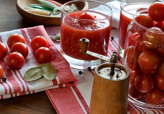 томаты с добавлением уксуса