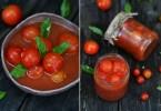 Помидоры в томатном соке: рецепты зимних заготовок