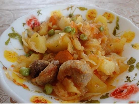 рецепте приготовления рагу