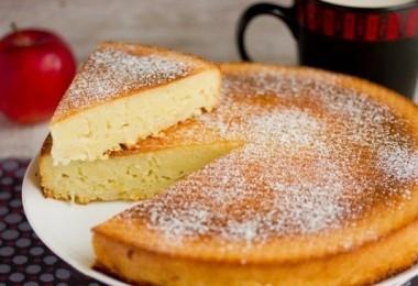 Манник с яблоками (постный, на молоке и кефире): рецепты