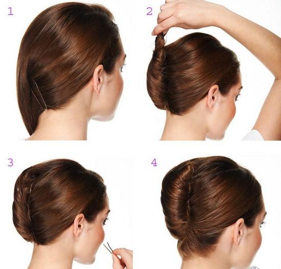 Как сделать классическую ракушку на средние волосы
