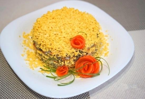 салат из печени говяжьей с морковью по-корейски