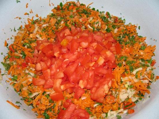 овощи с томатами