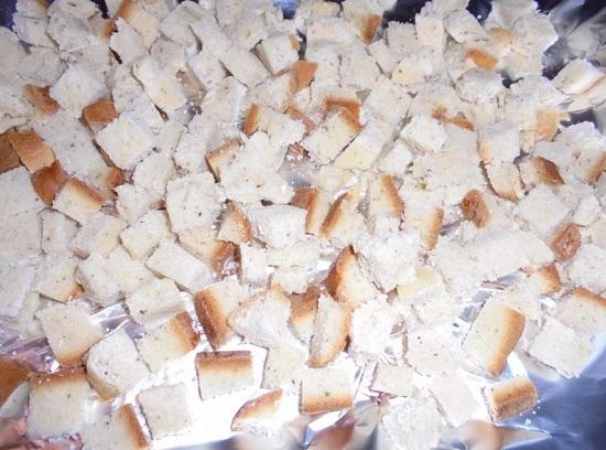 кусочки хлеба