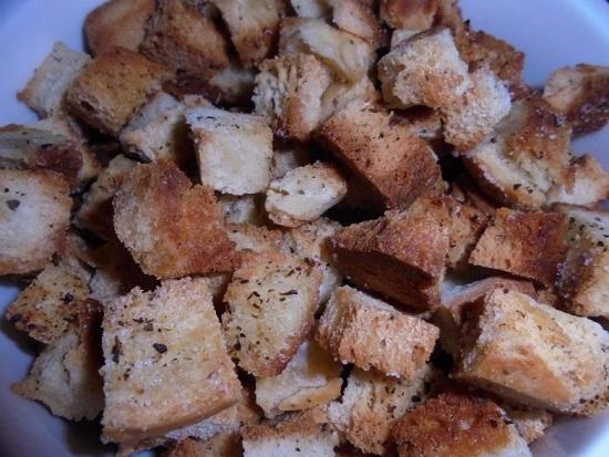 Высушиваем хлеб