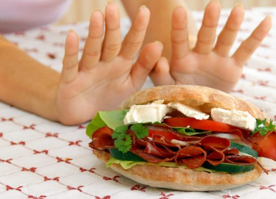 отказаться от жирной пищи