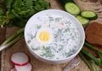 Окрошка на кефире с минералкой: рецепты, калорийность