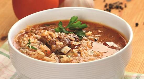 суп из баранины с рисом