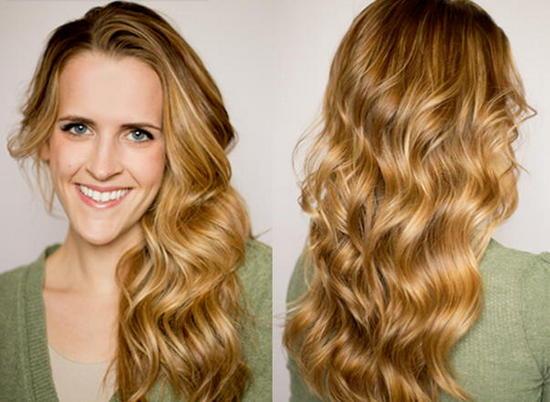 Экспресс-укладка утюжком на длинные волосы