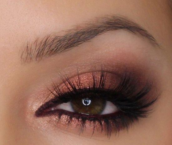 насыщенно-медные тени для карих глаз