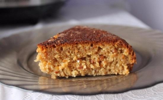 Постный пирог с вареньем на скорую руку