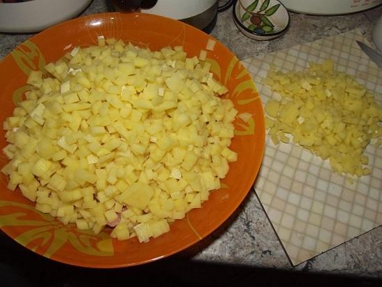 Шинкуем картошку