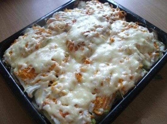 Когда сыр расплавится, запеканка готова