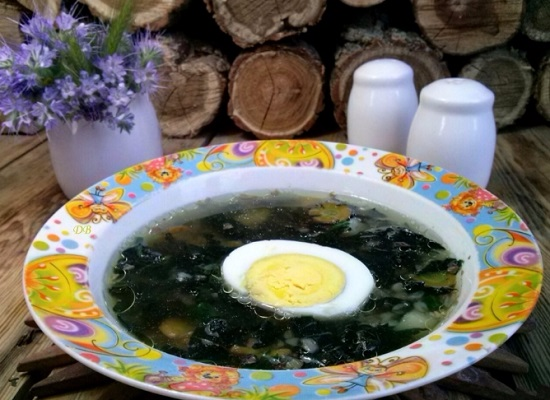 как варить щавелевый суп с яйцом