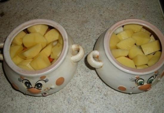 картофель в горшочки