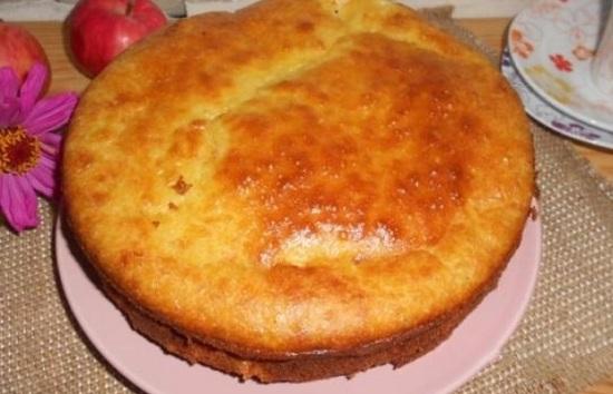 пирог с яблочно-творожной начинкой