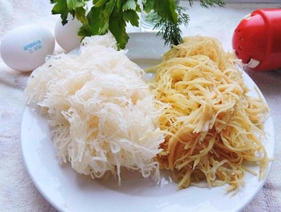 Картофель и патиссоны