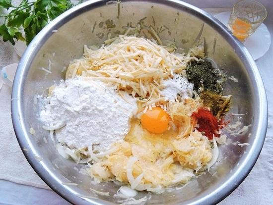 яйцо в патисонах